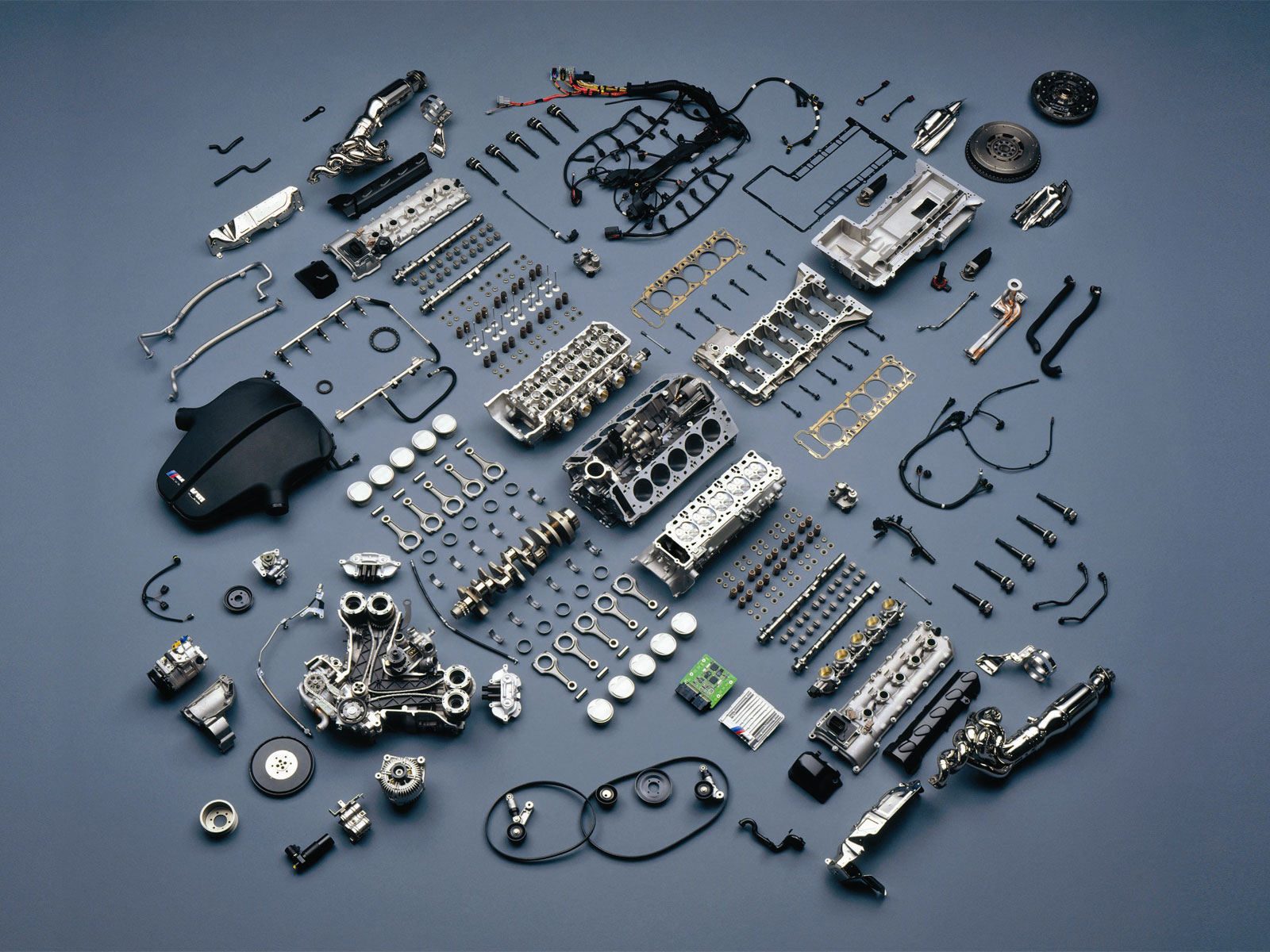 Disassembled BMW Engine